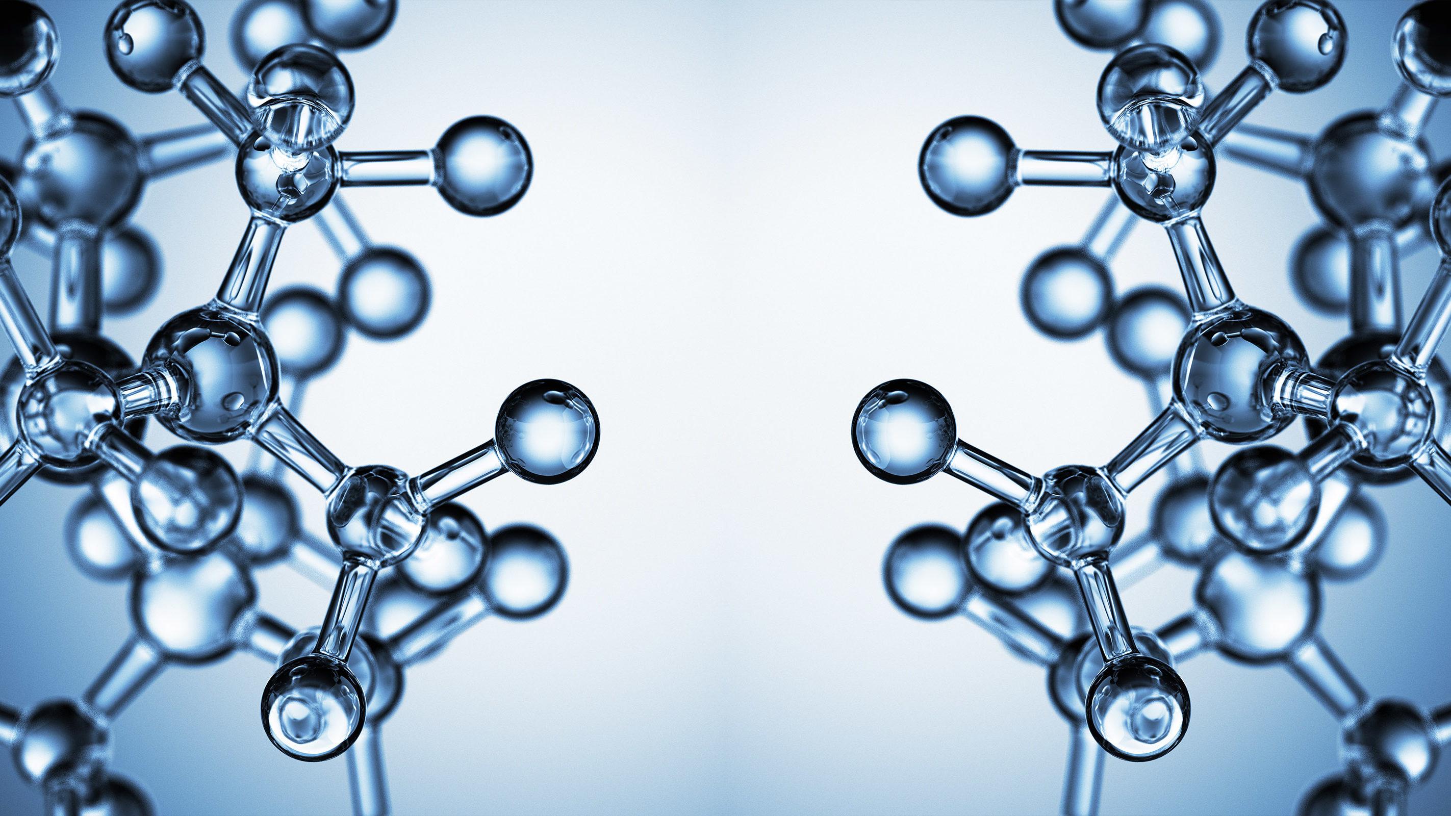 3D render of molecular structures