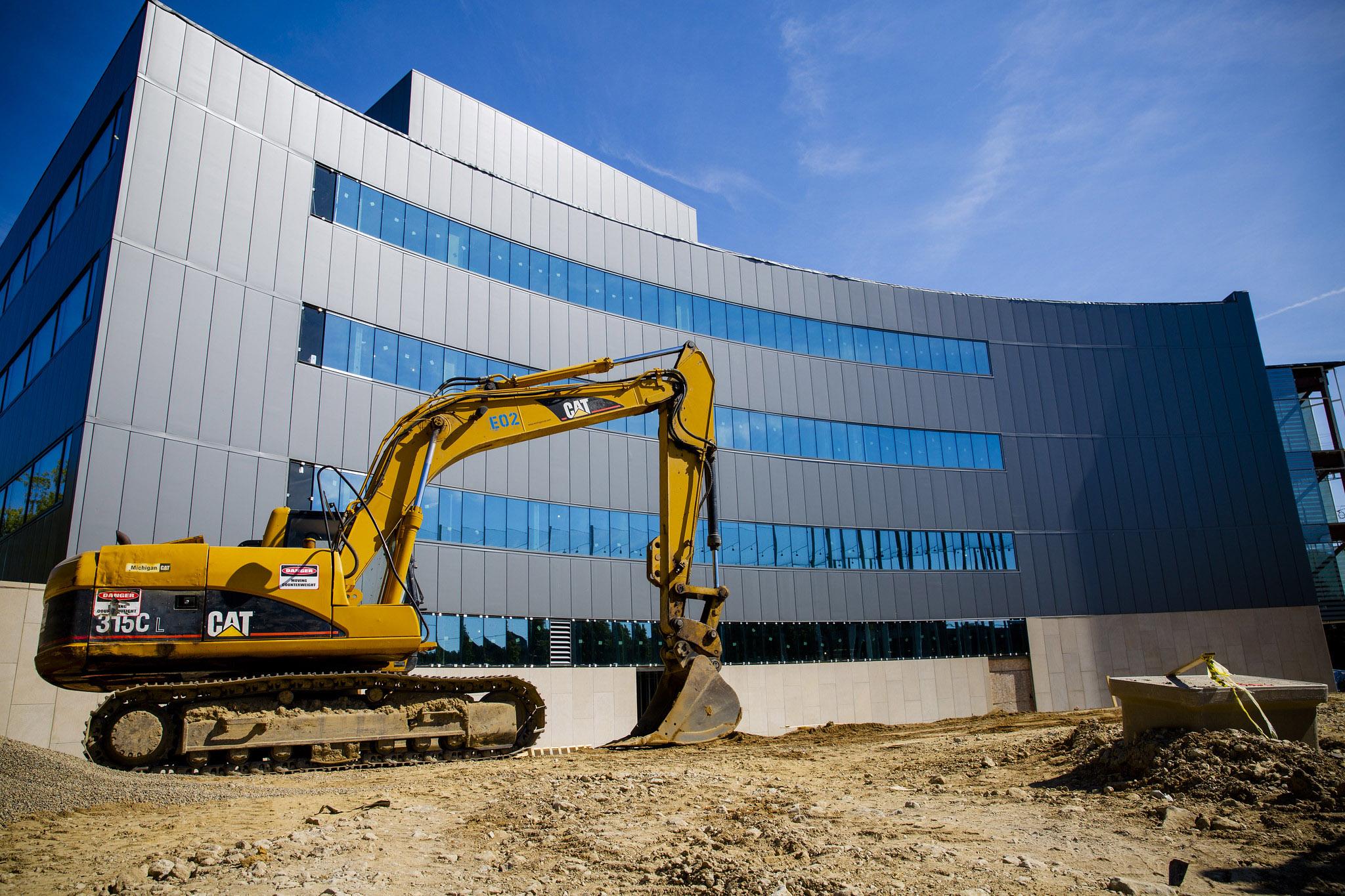 A photo of the new Michigan Robotics Building.