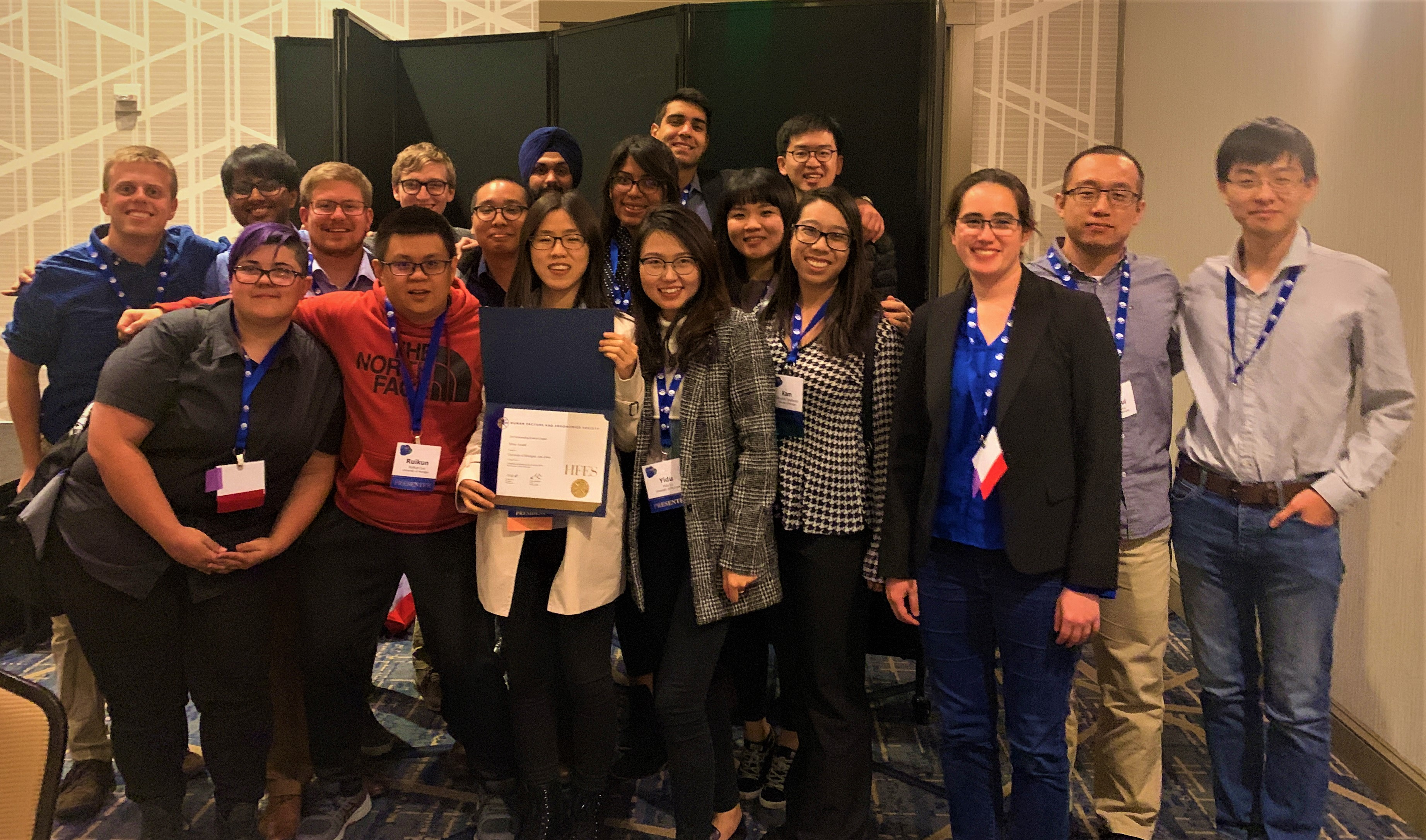 U-M HFES Student Chapter group photo at the HFES annual meeting in Seattle.