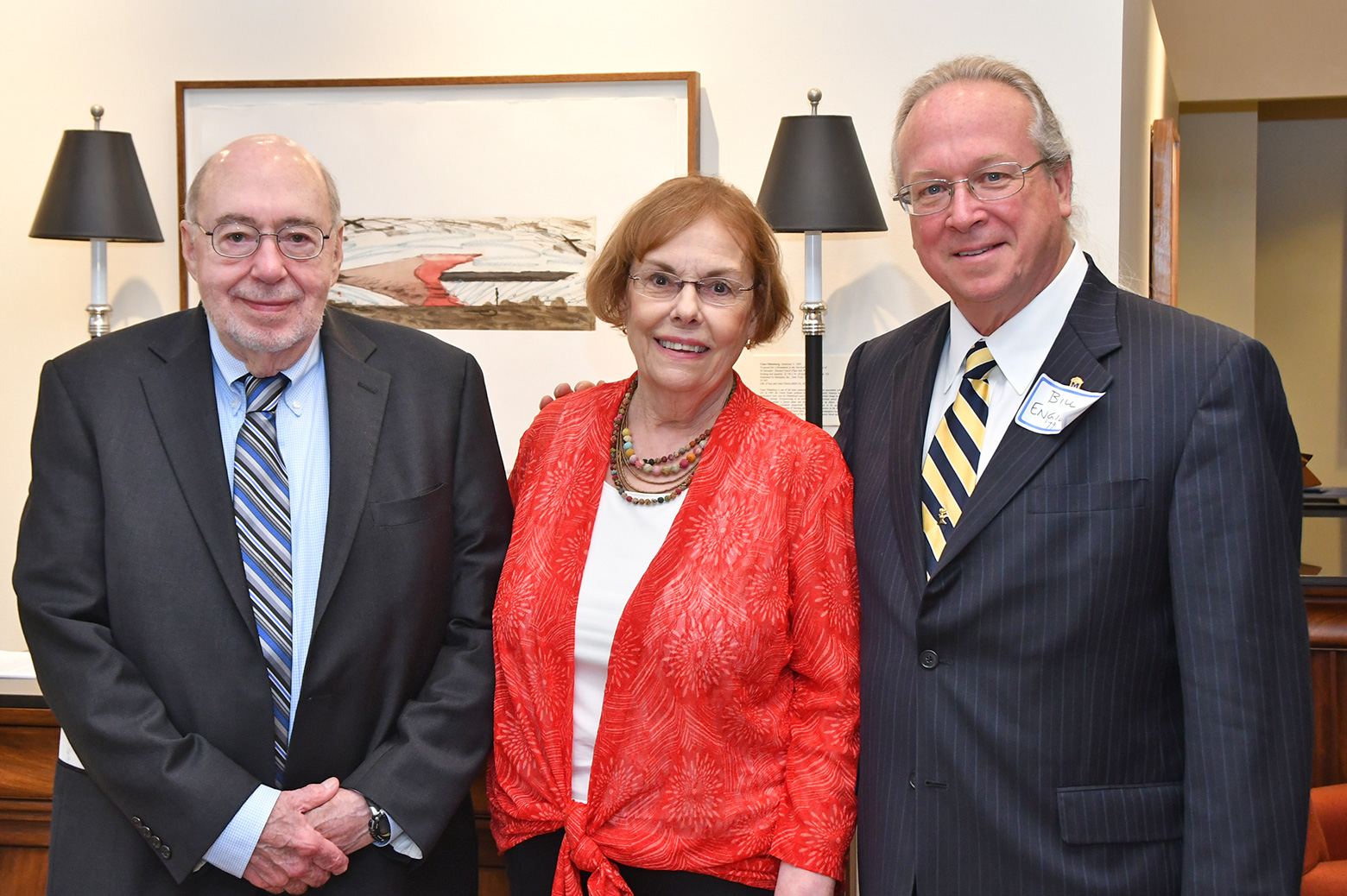Image of Scott and Jan Fogler, and Bill Engibous