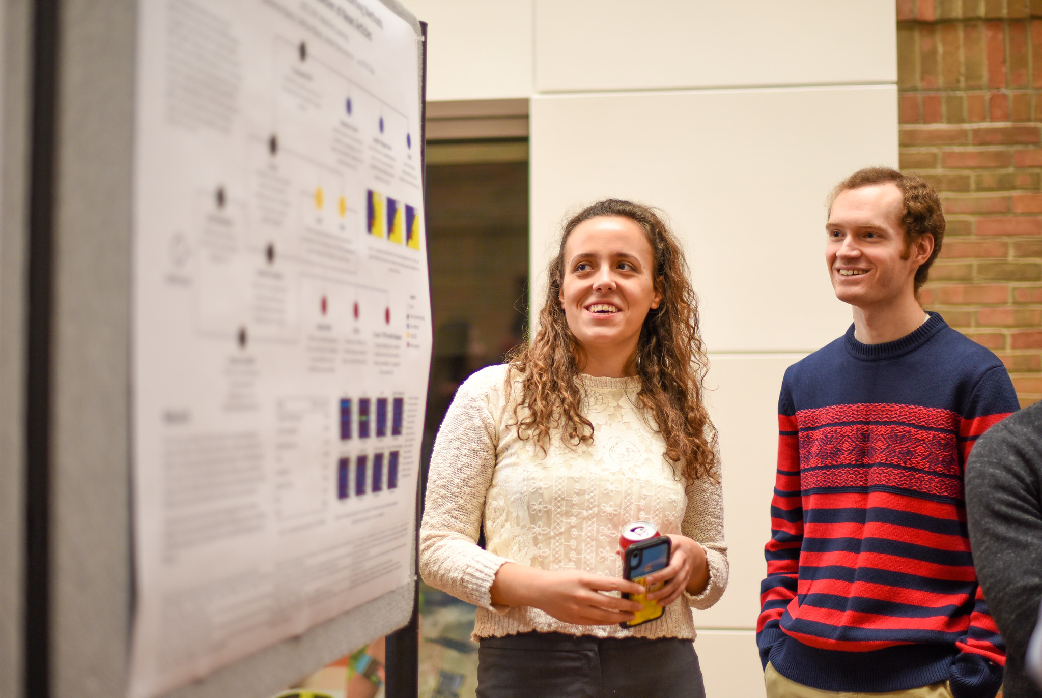 Students at the poster session