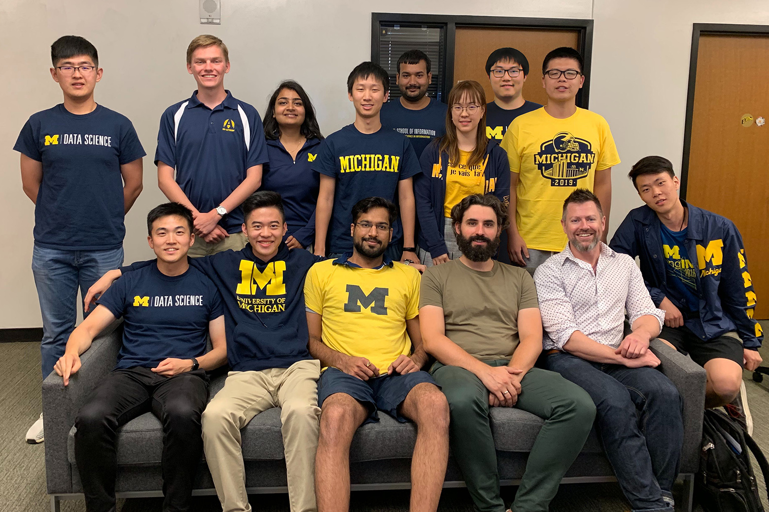 Group photo of the Amazon Socialbot Grand Challenge team from Michigan