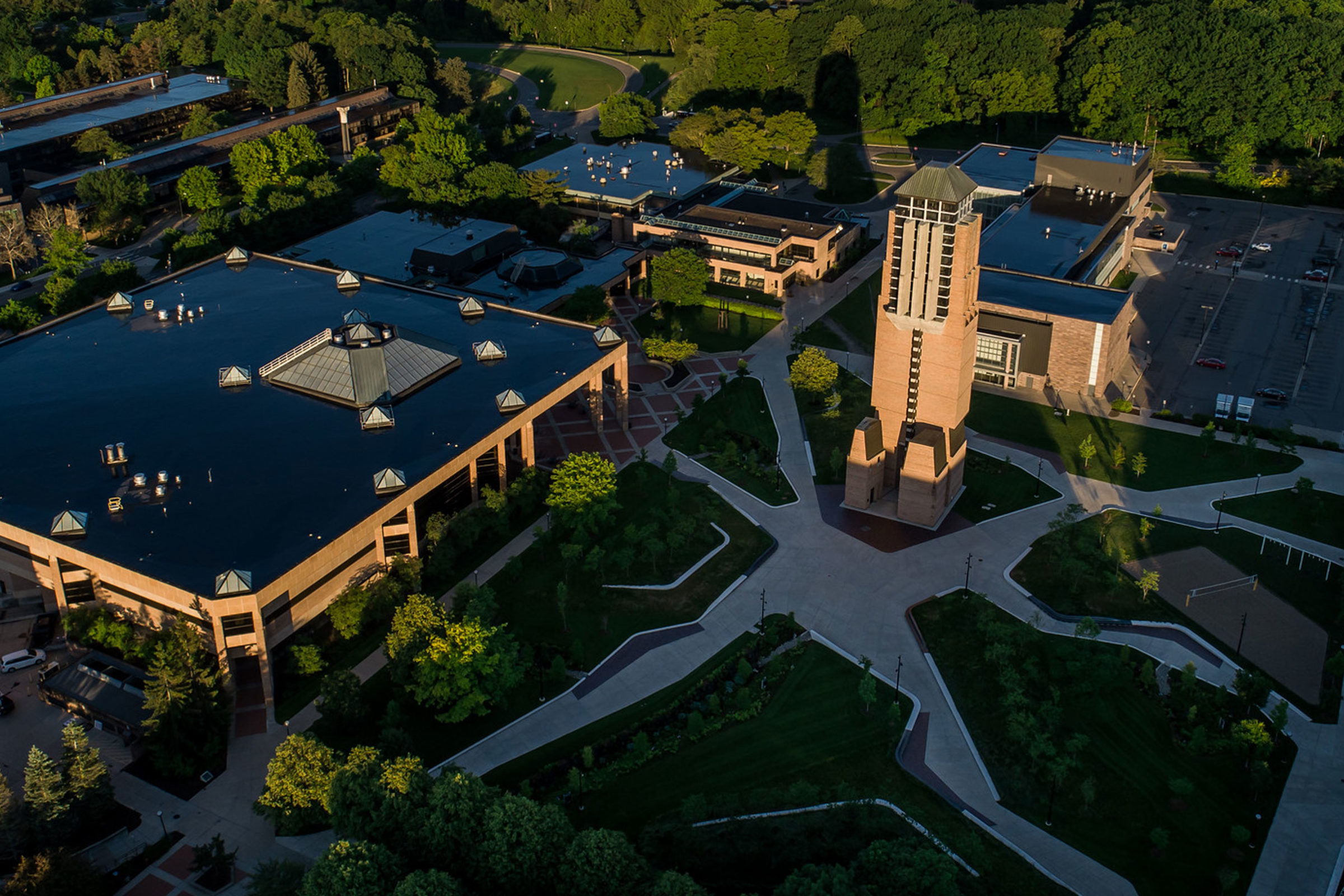 aerial view of north campus