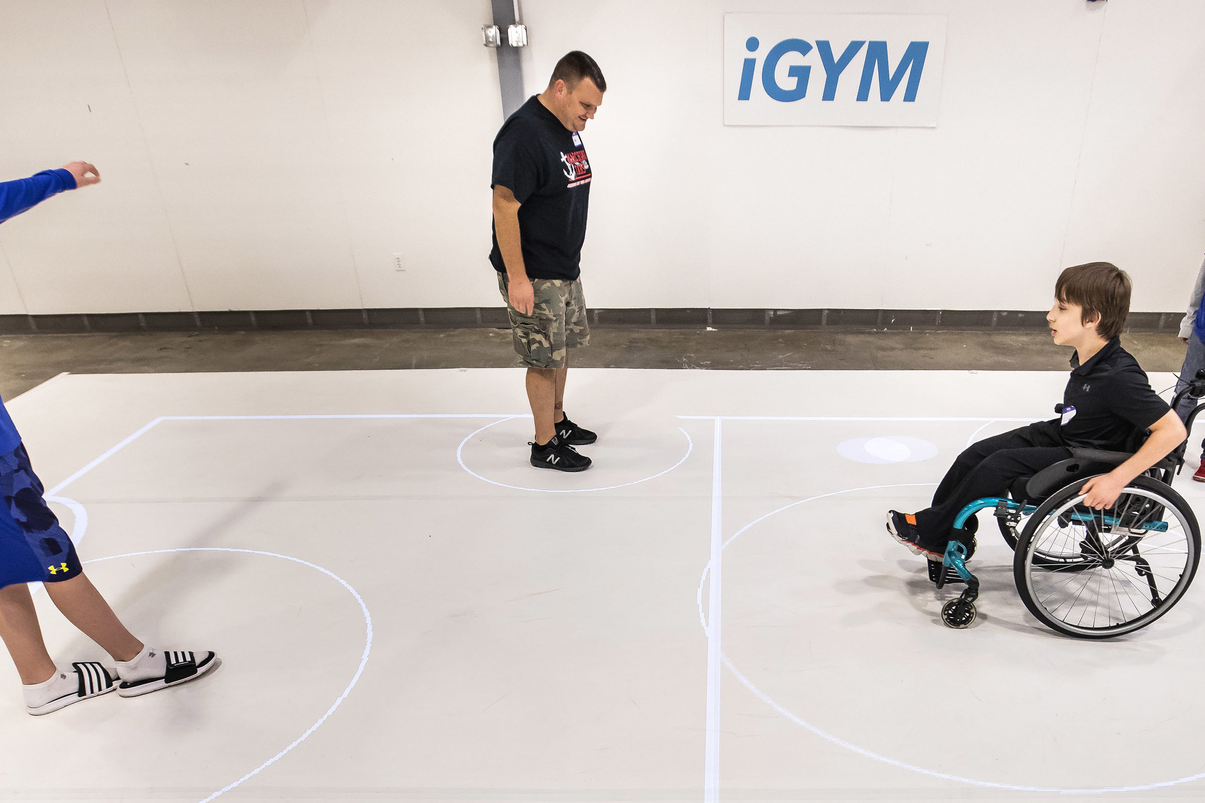 Various participants test out iGYM