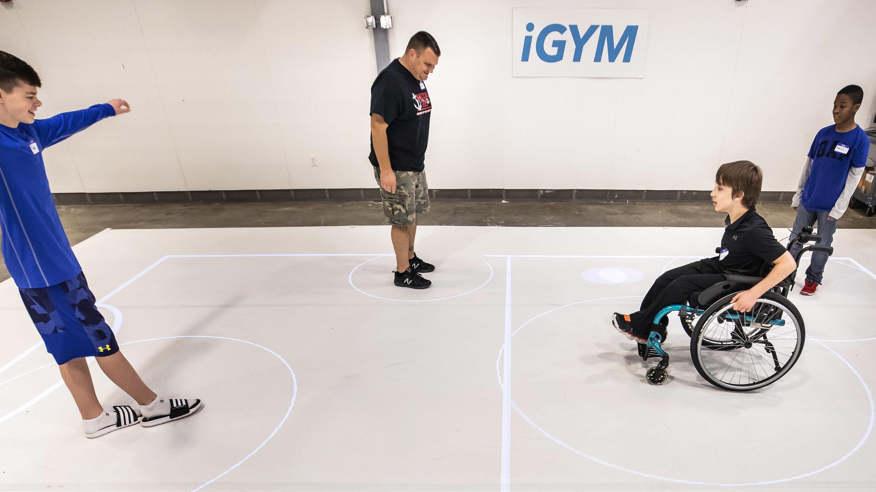Various participants test out iGYM