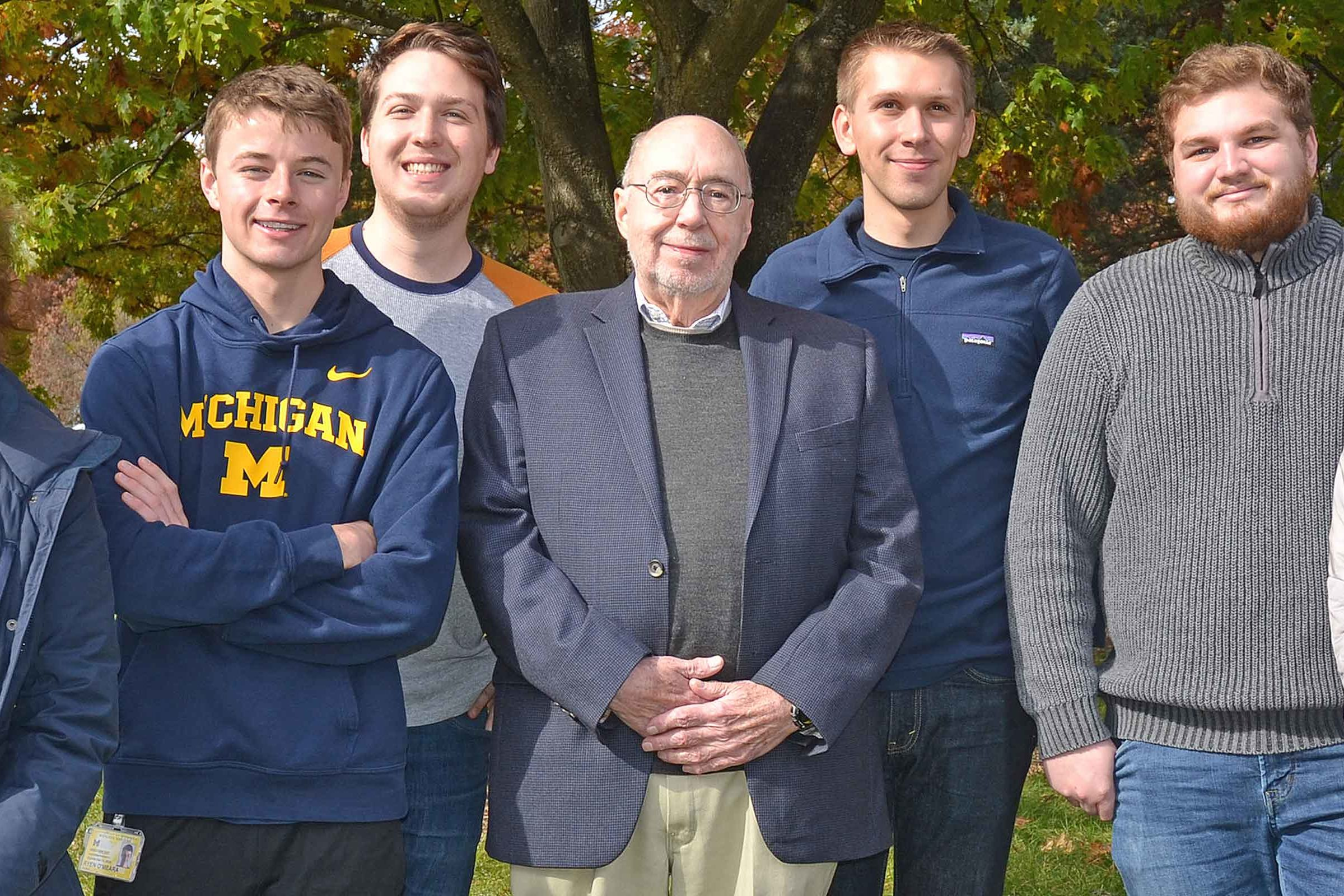 Professor Scott Fogler and 2019-2020 AIChE Officers