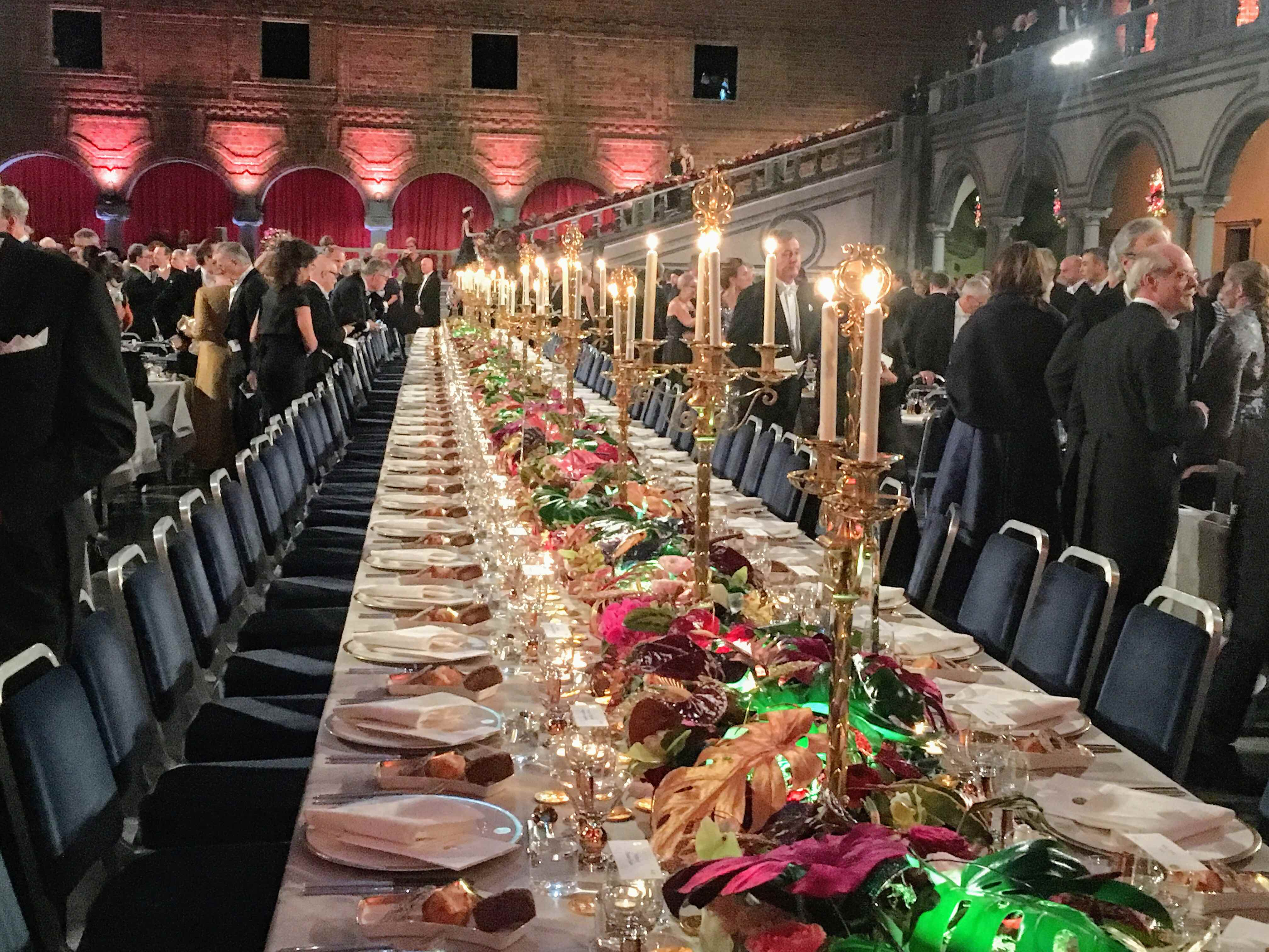 The Nobel banquet table
