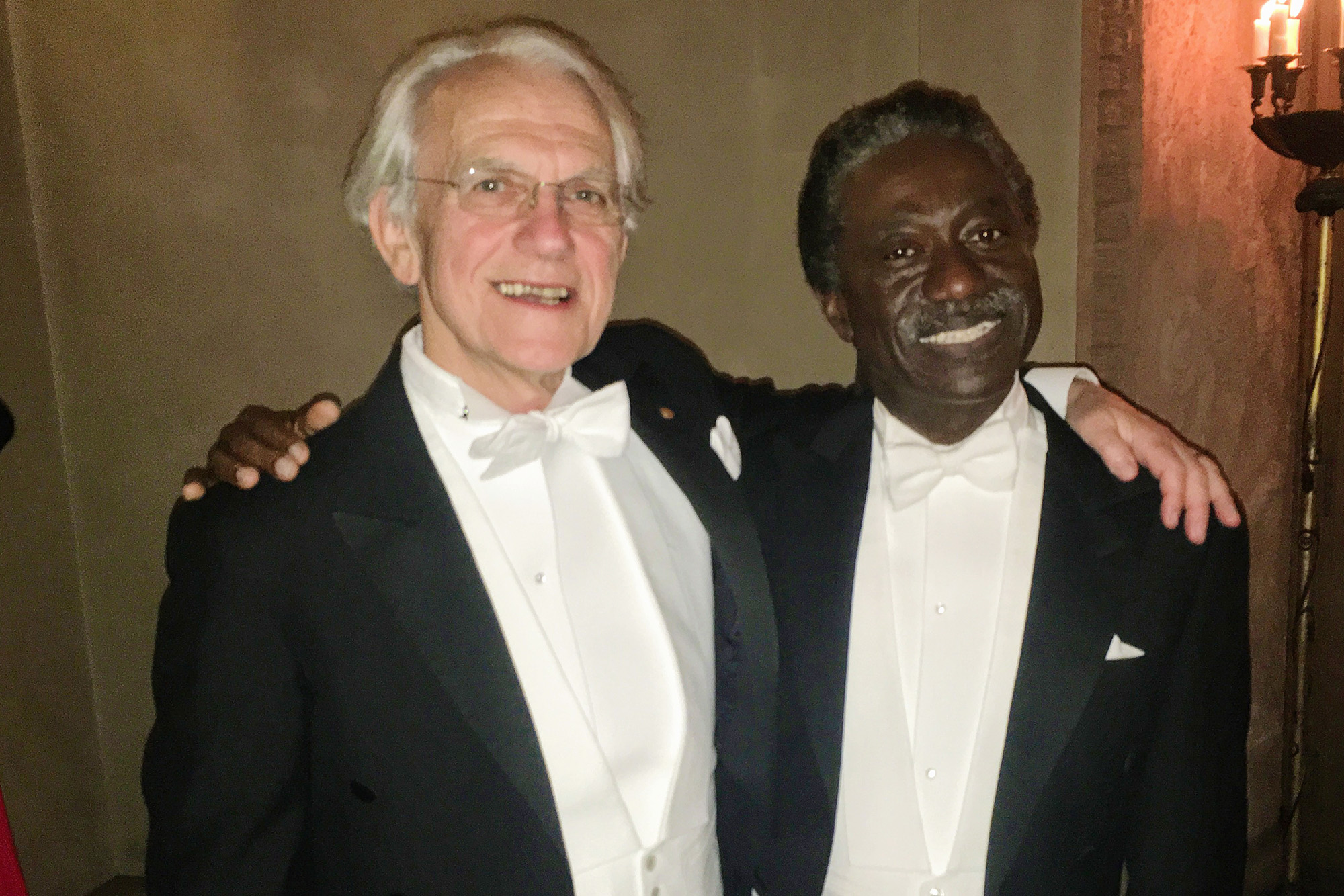 Gérard Mourou and Herbert Winful at 2018 Nobel Ceremony