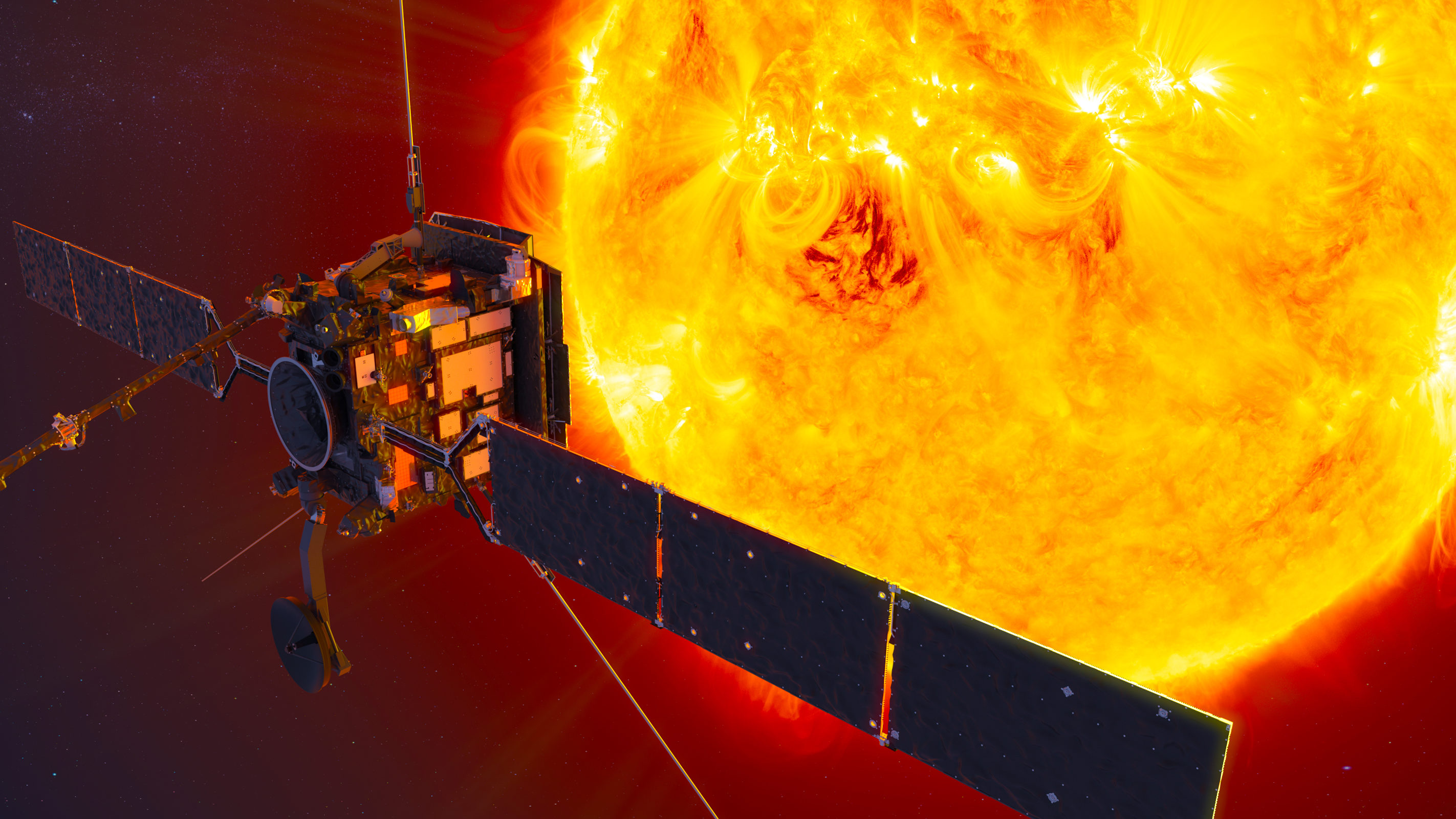Artistic renders of the Solar Orbiter. Provided by the European Space Agency.