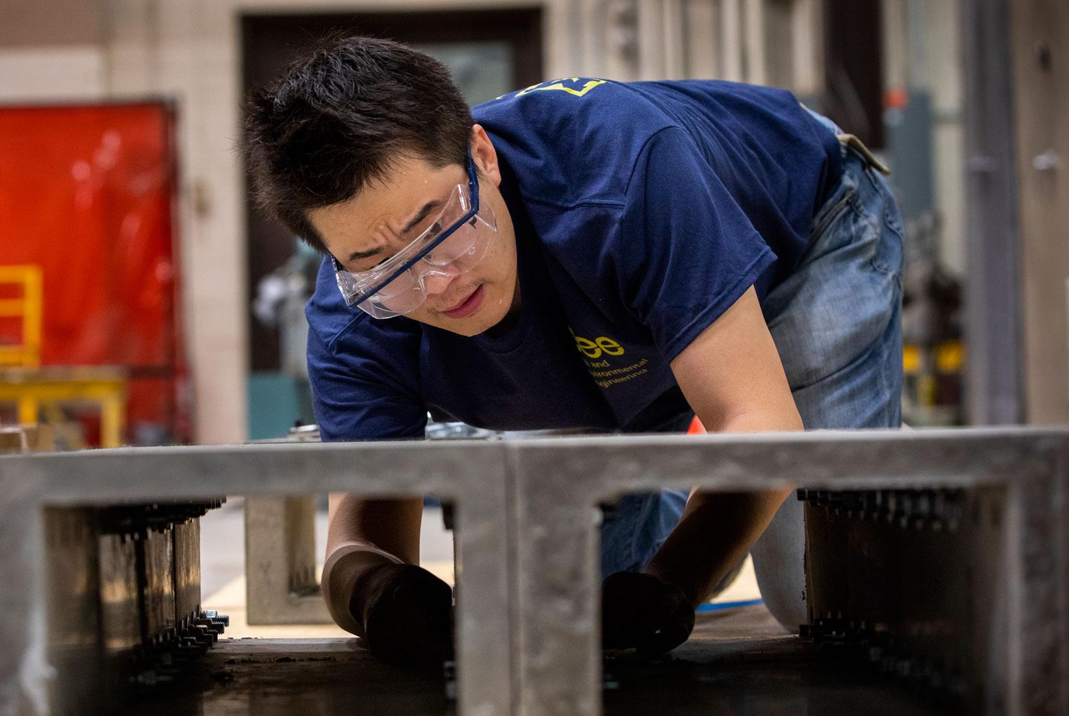 testing bendable concrete