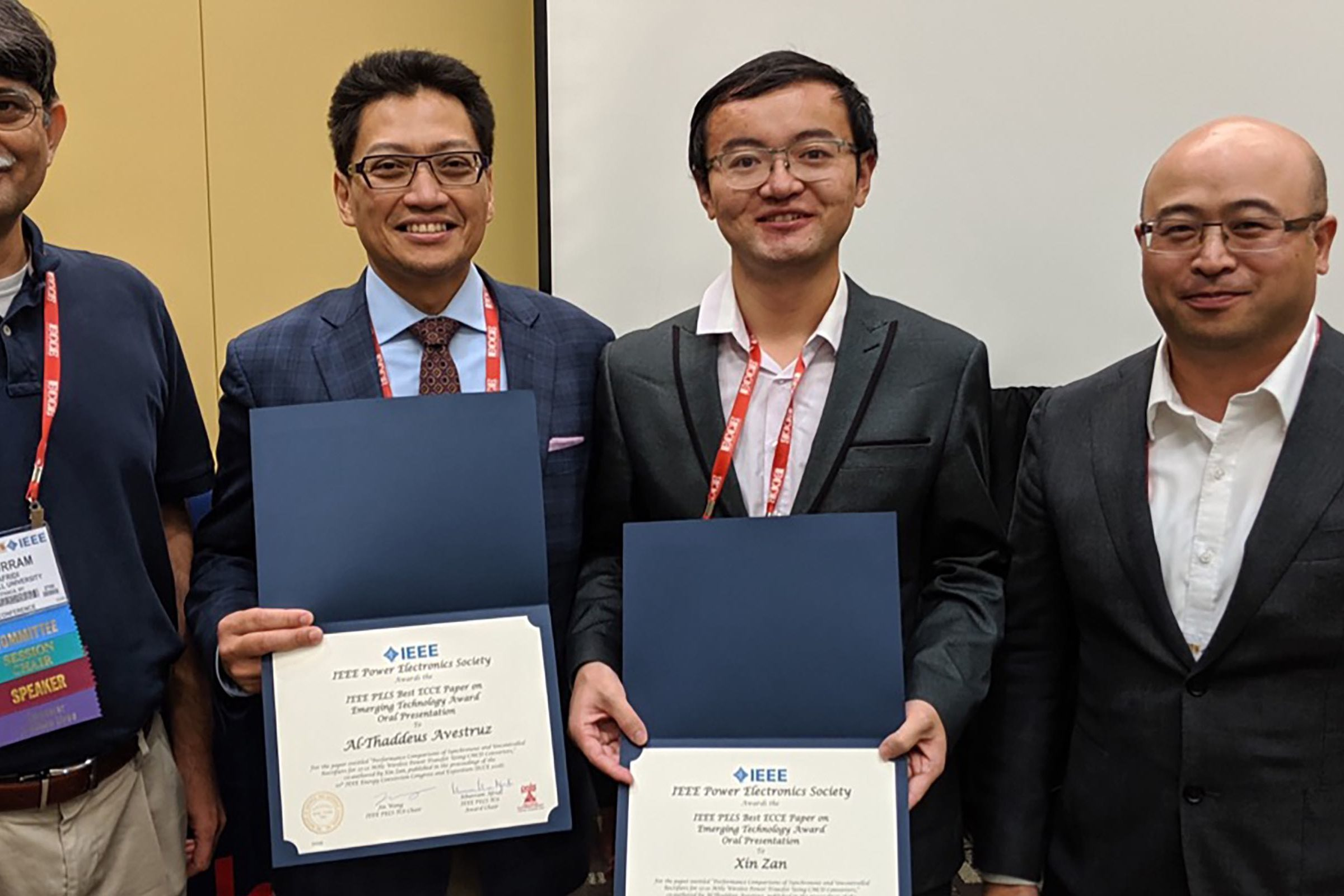 Best paper award for optimizing wireless power transfer