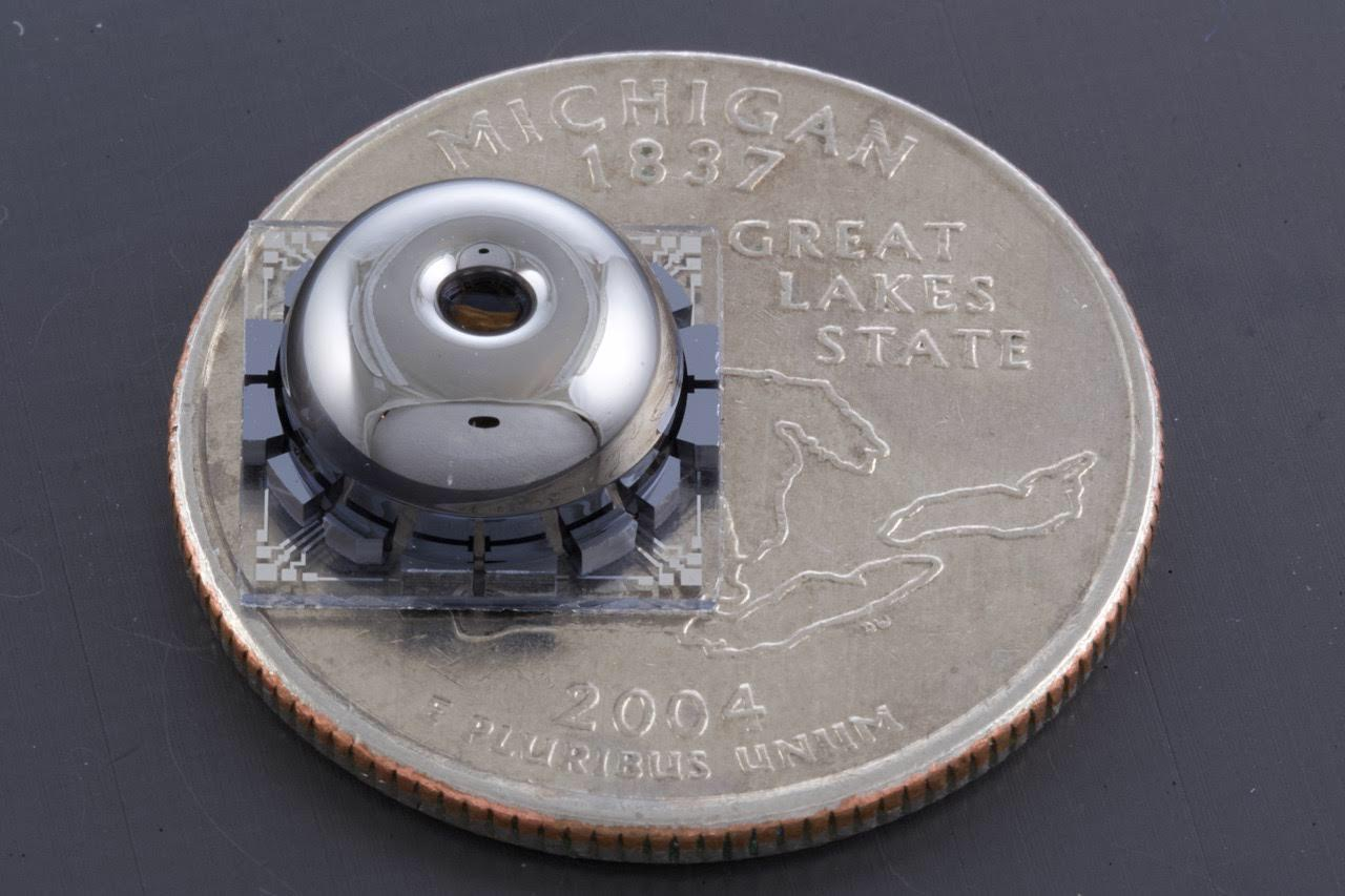 the resonator on a quarter
