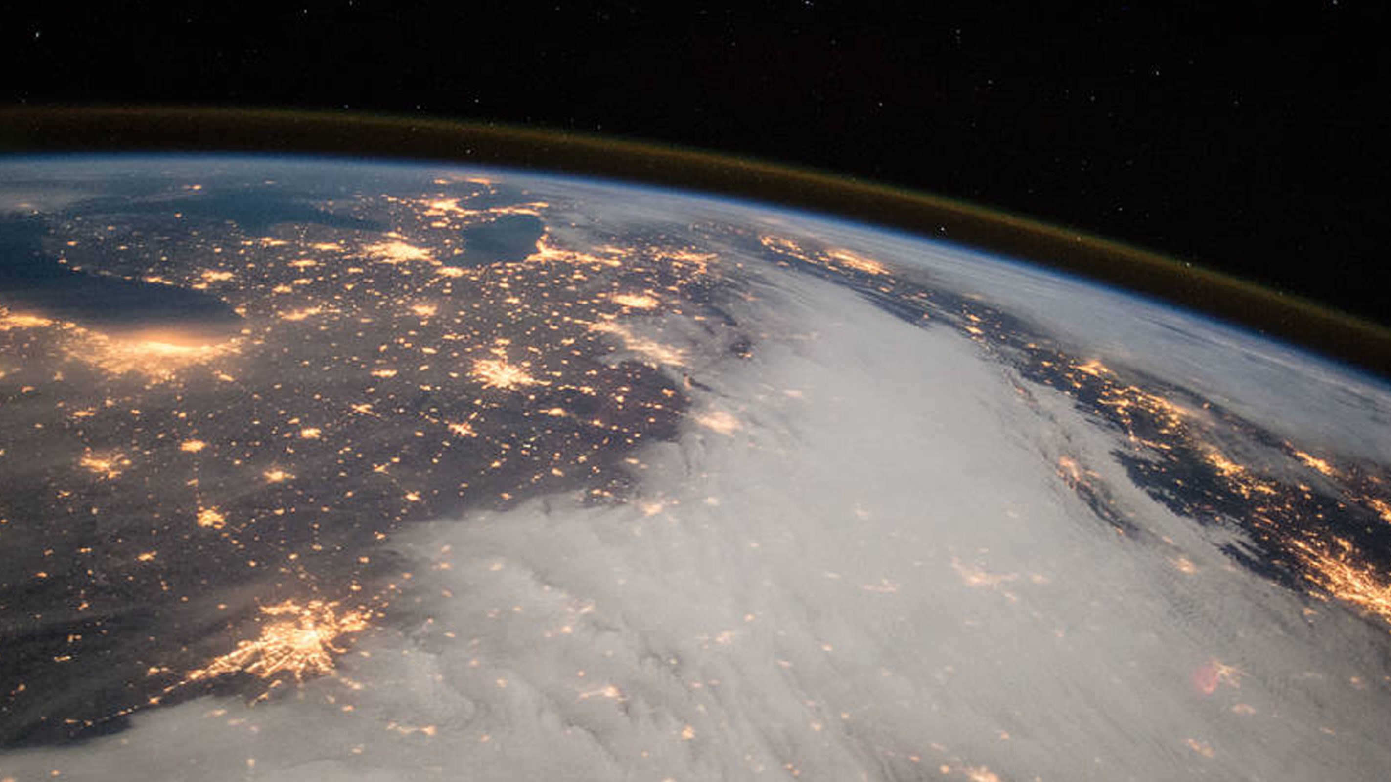 the midwest taken from space by the ISS