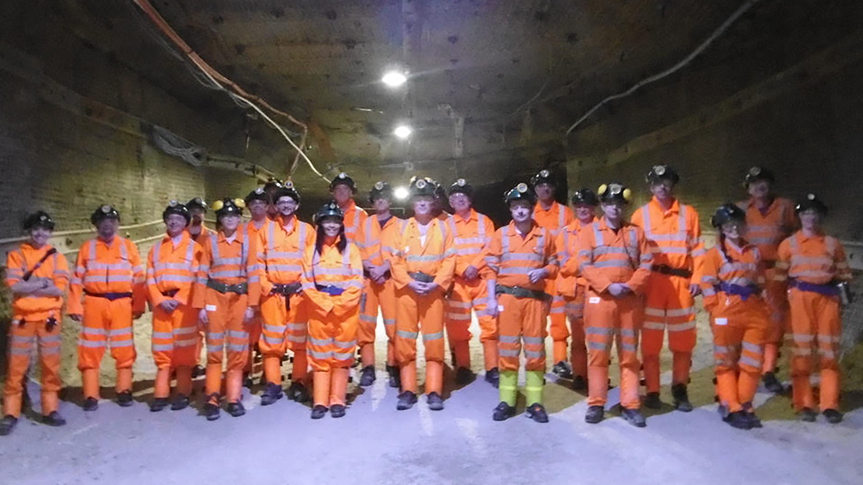 Members of the WATCHMAN collaboration at the Boulby Underground Laboratory, UK, the proposed site for long-range antineutrino-based reactor discovery and monitoring demonstration experiment (2018)