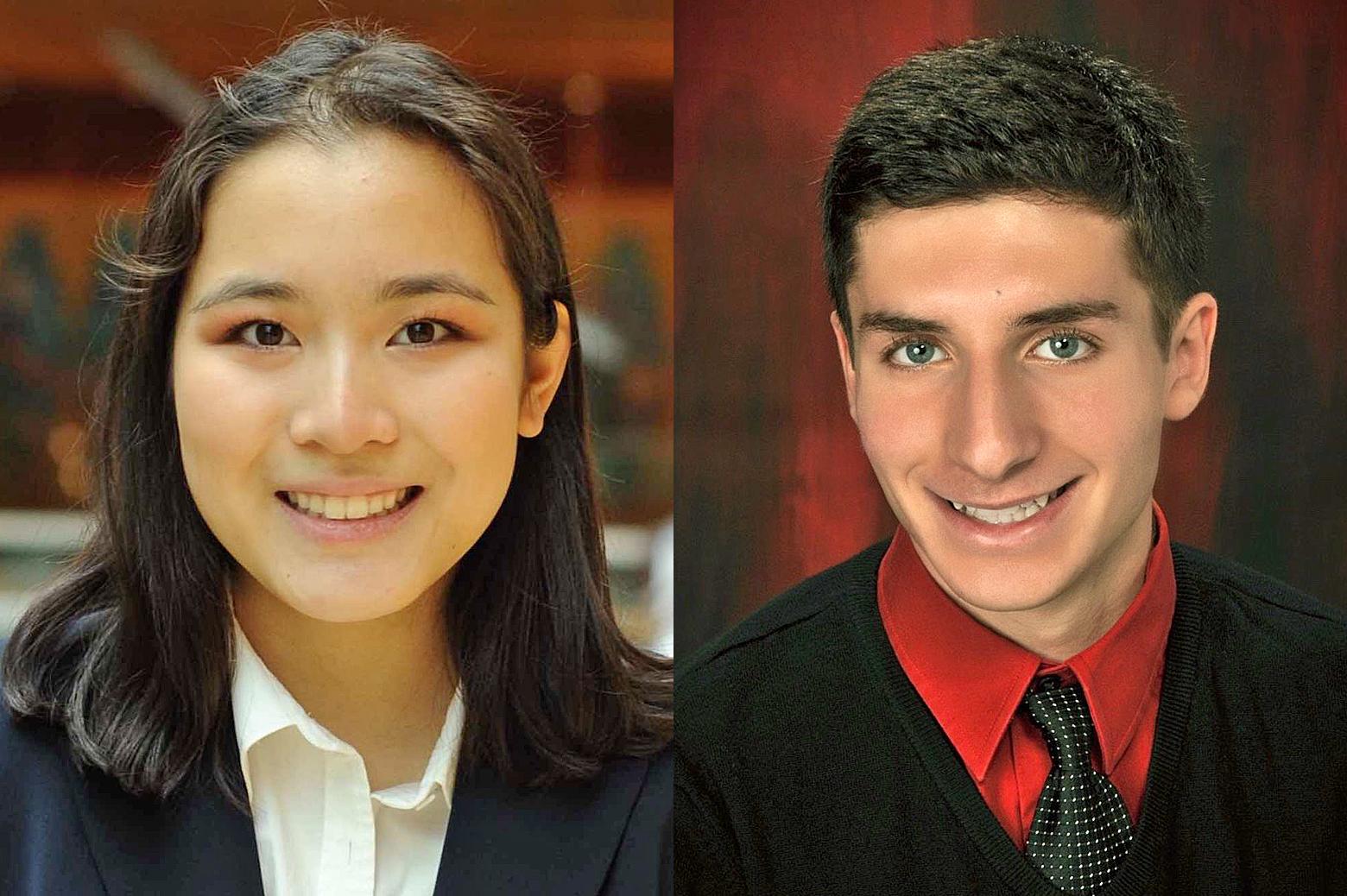 images of Eileen Li and Hani Elhasan