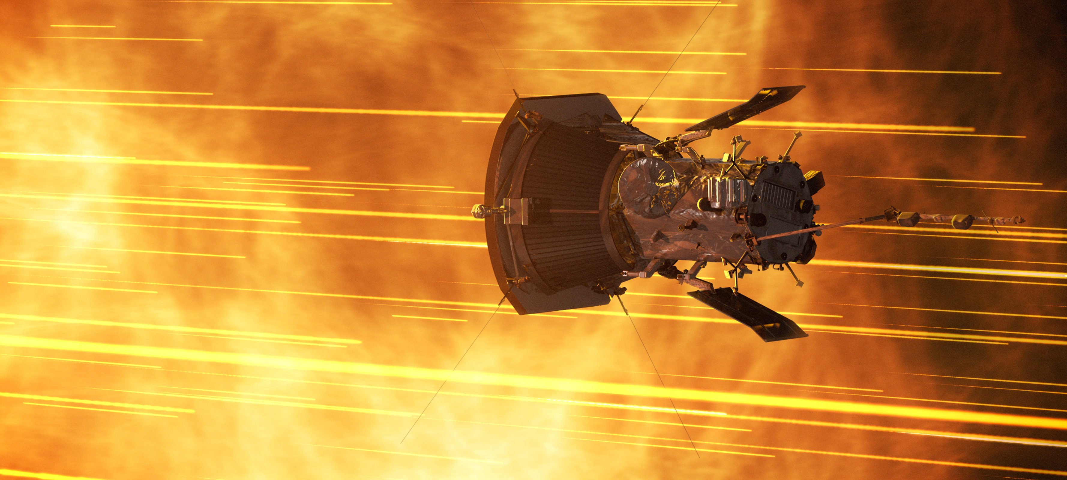 Parker Solar Probe approaching the sun