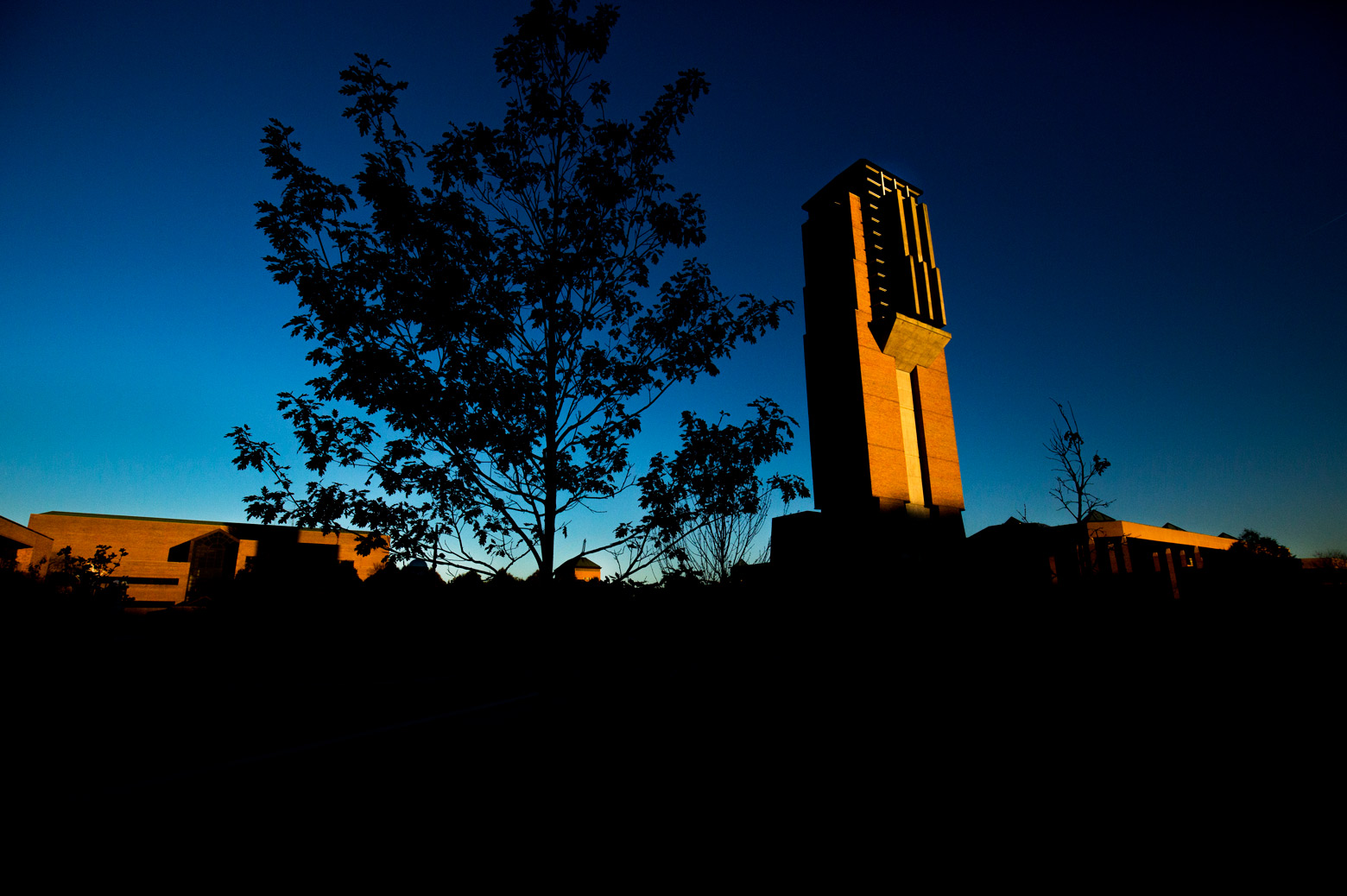 north campus at dawn