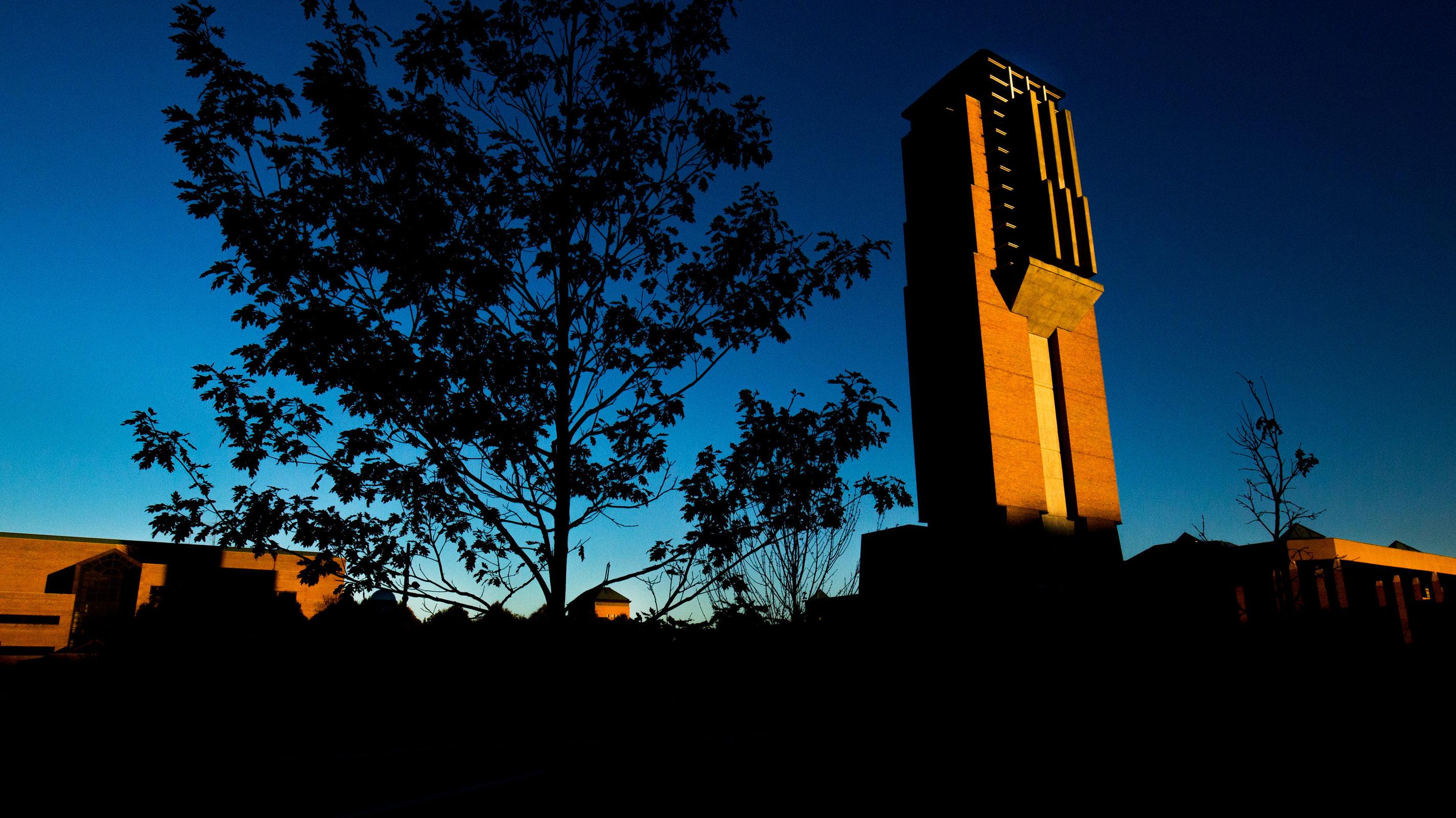north campus at dawn