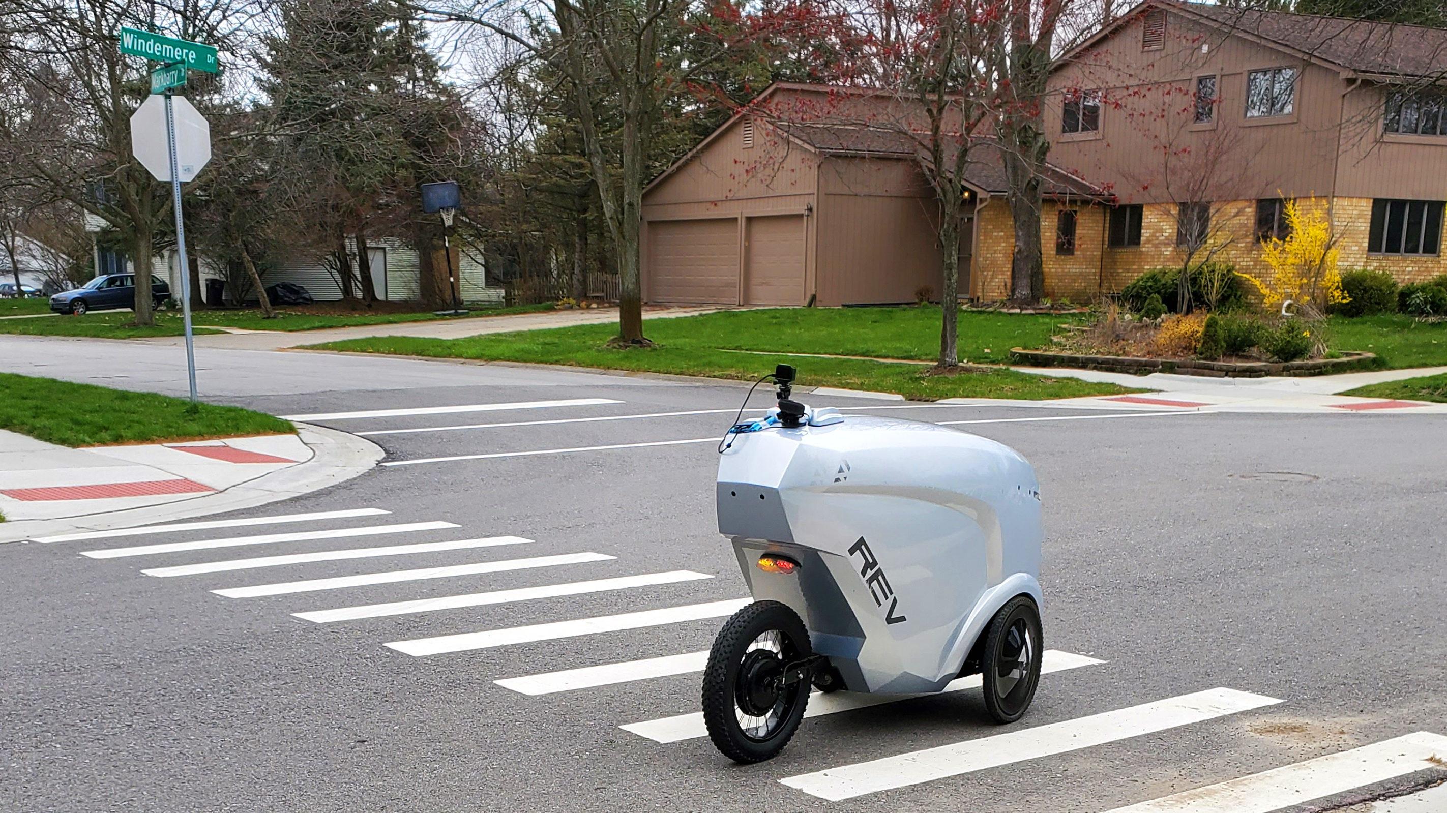 REV-1 delivery robot