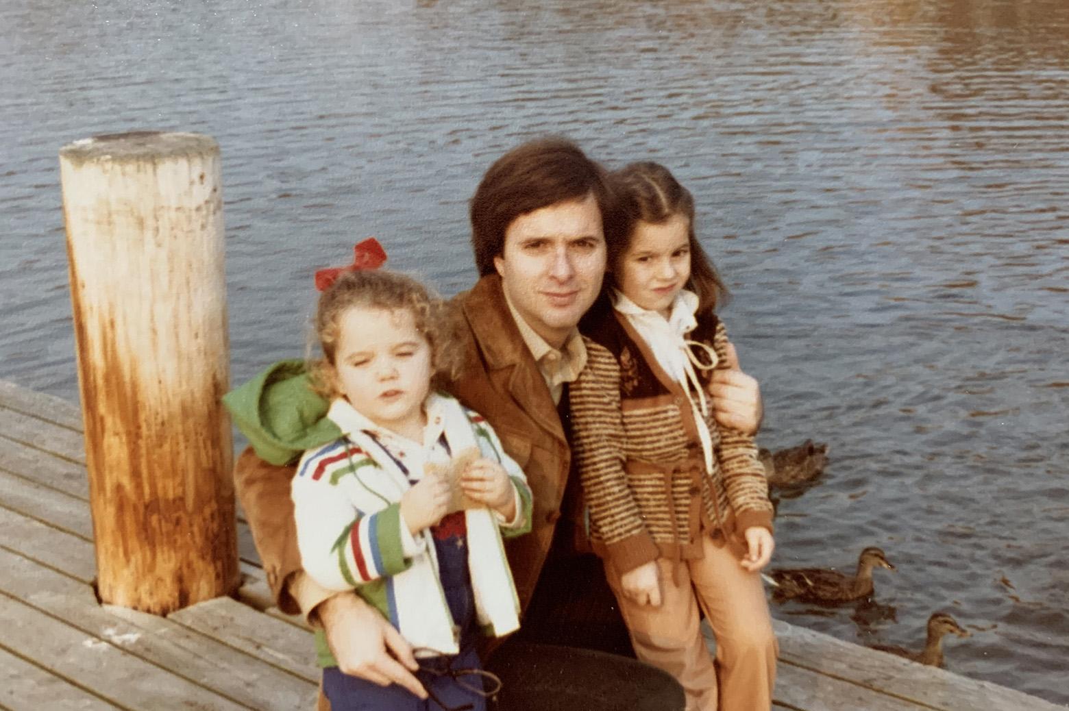 Nikolaos Katopodes with his daughters