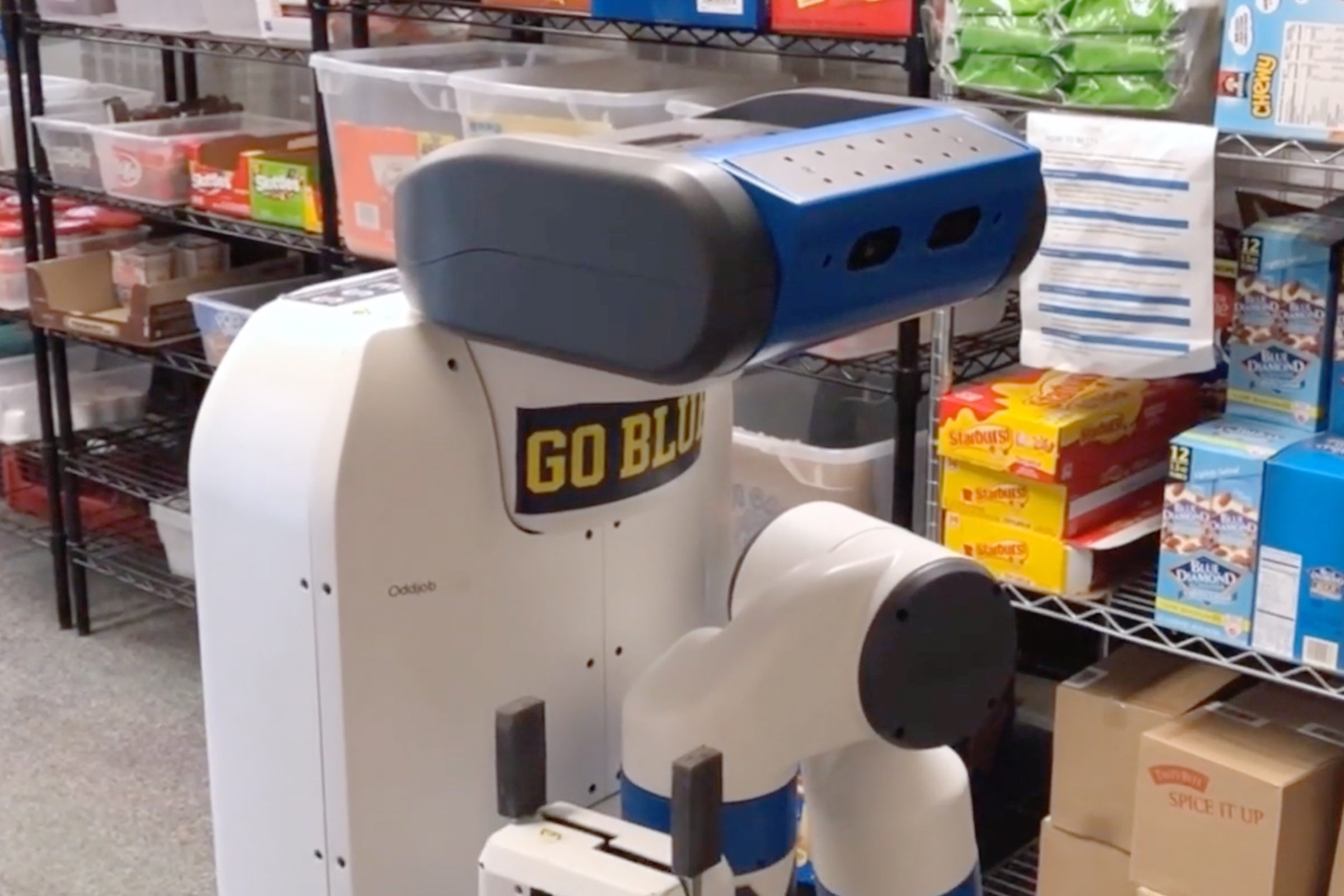 Robot searching in a snack bar