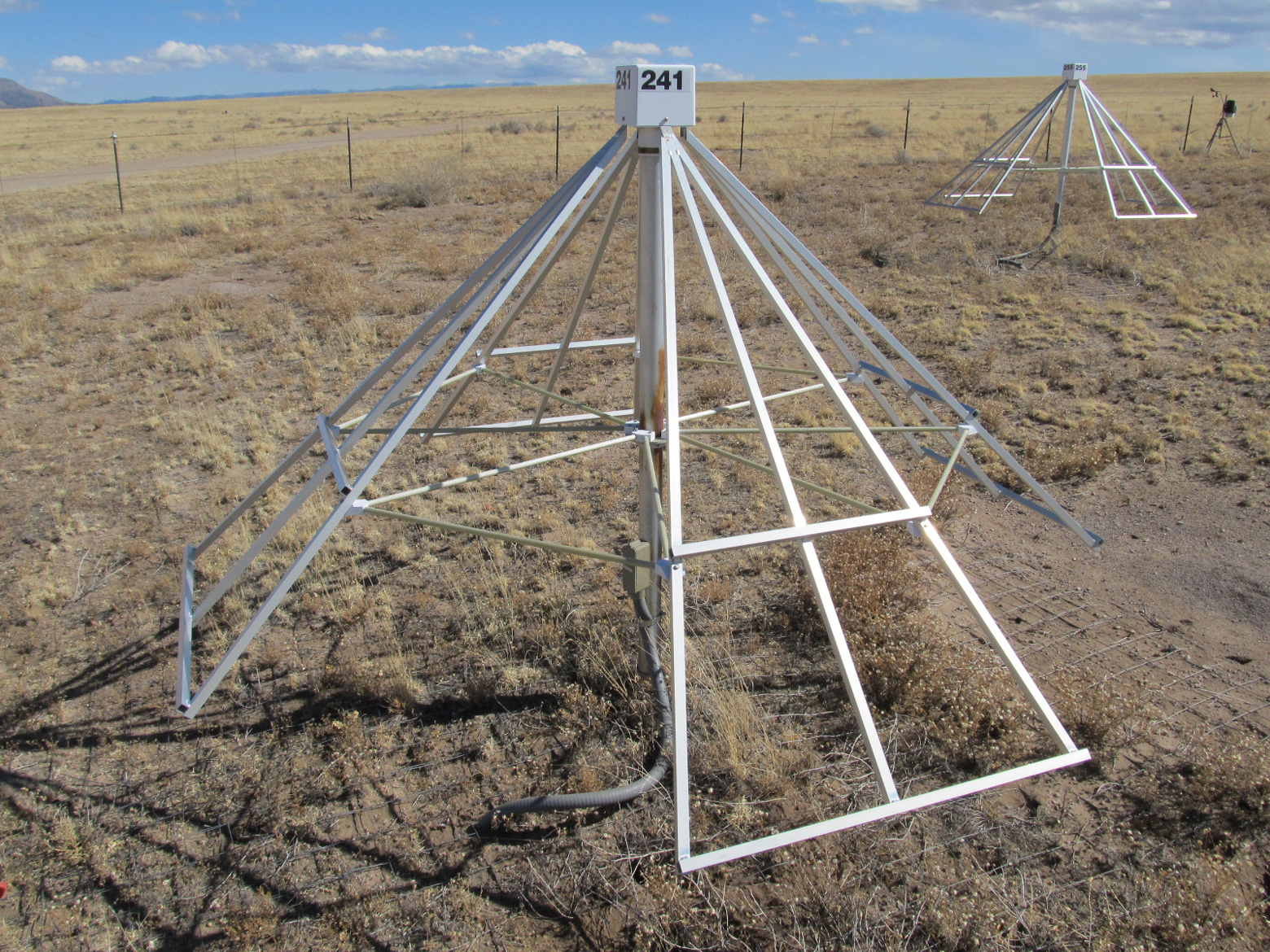 The radio antenna model that Kasper intends to send to students on the SunRISE project to measure radio waves from the sun.