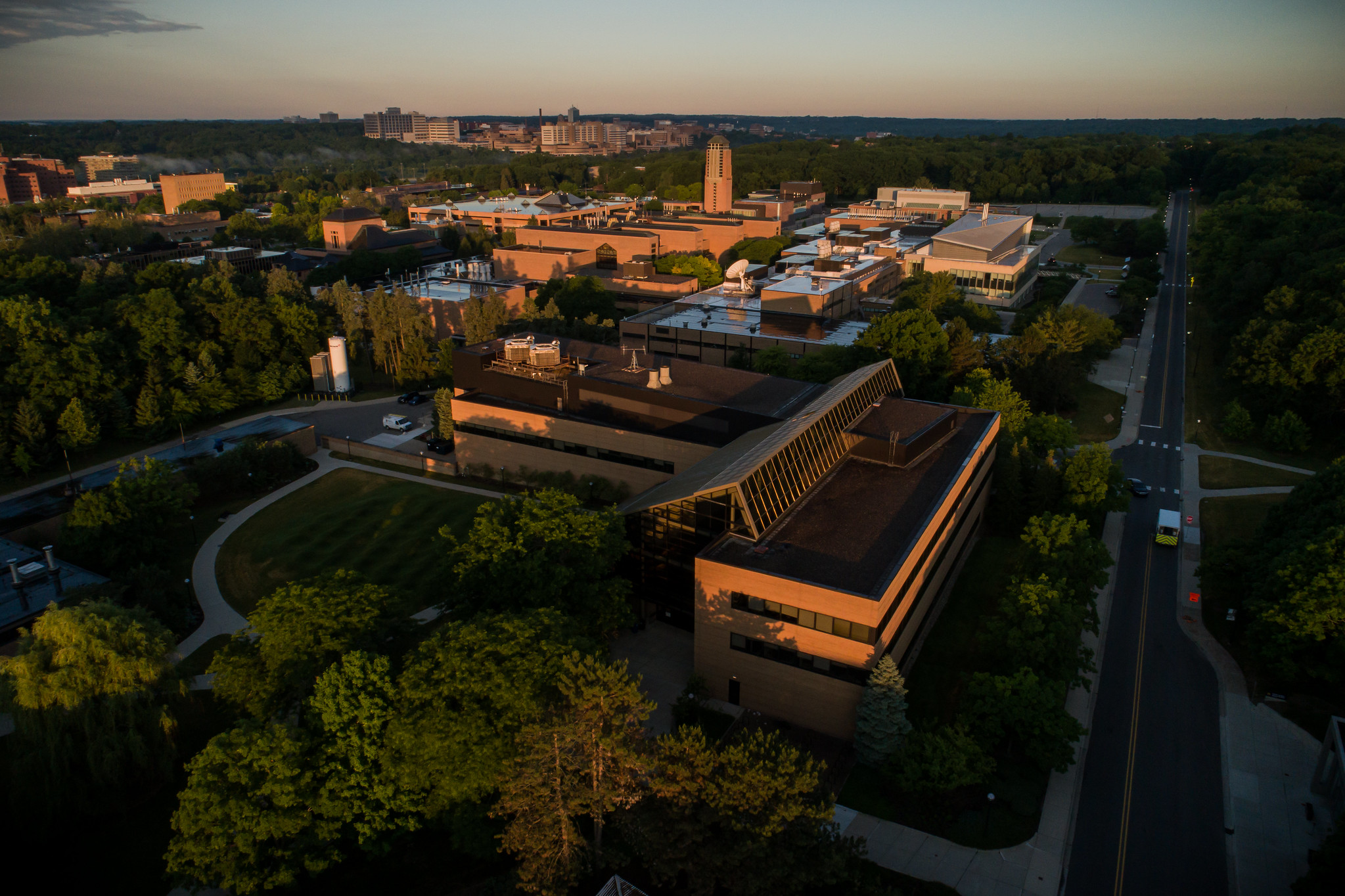 An aerial photo of North Campus