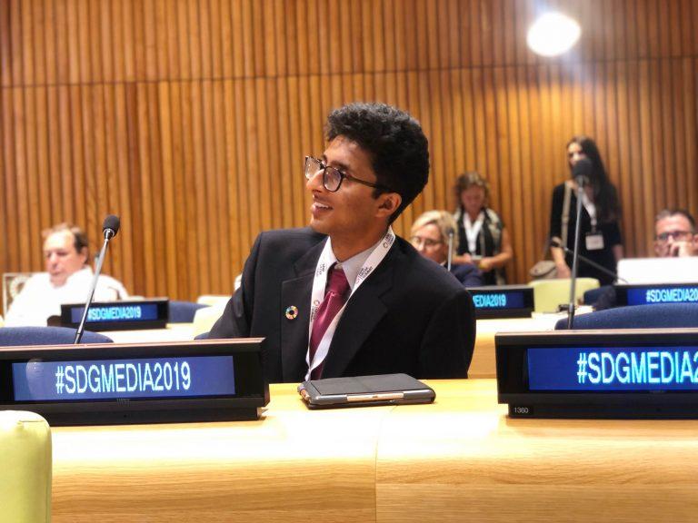 Amulya Parmar at UN