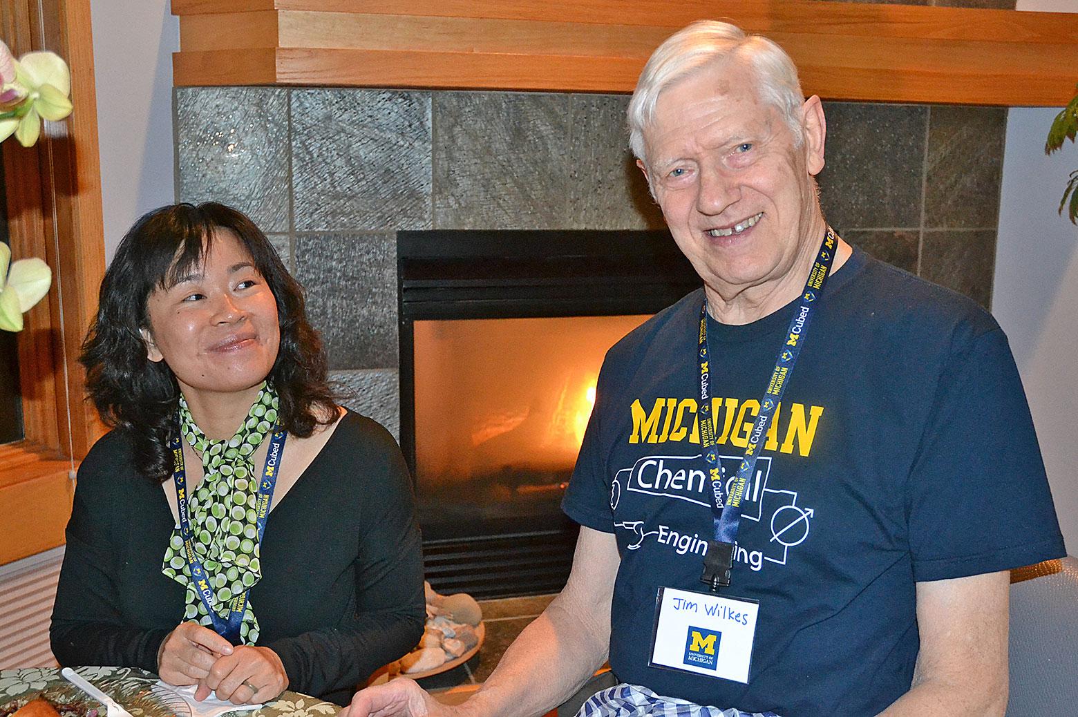 Jim Wilkes and Nina Lin
