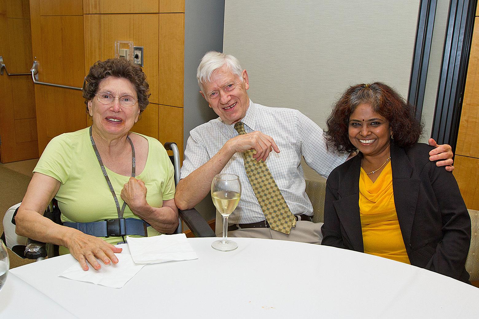 Mary Ann and Jim Wilkes, and Sunitha Nagrath