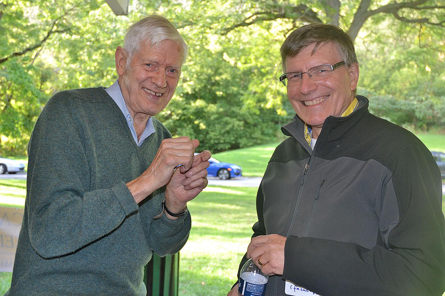 Jim Wilkes and Johannes Schwank