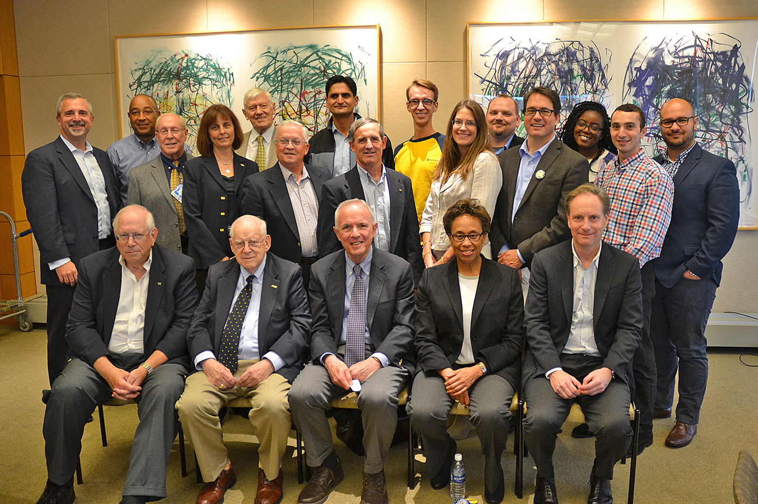 Jim Wilkes and other ChE alumni in 2016