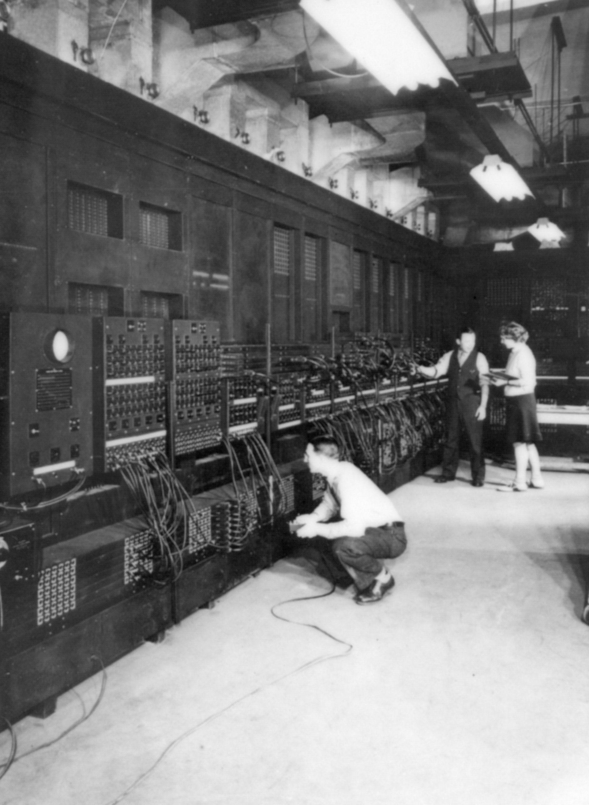 historic photo of ENIAC