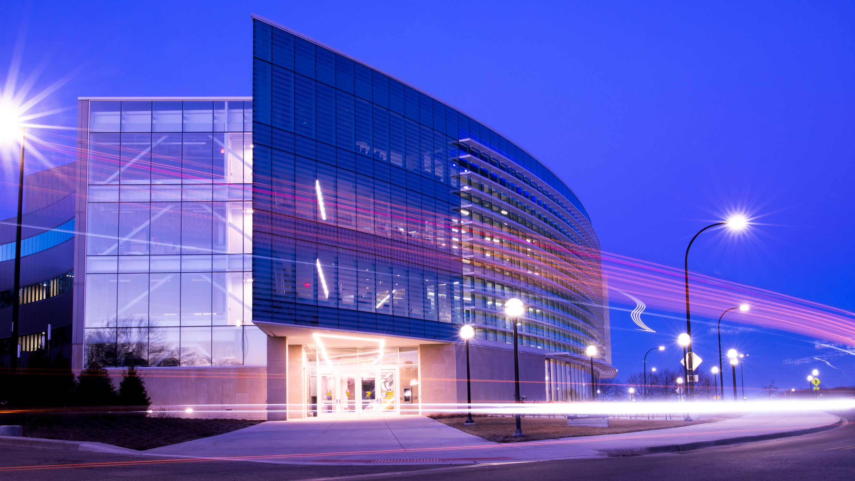 The outside of the Ford Robotics building