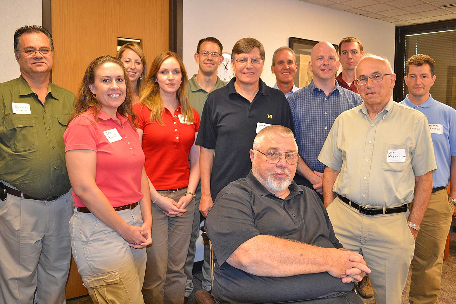 image of Barry Barkel with ChE 487 mentors
