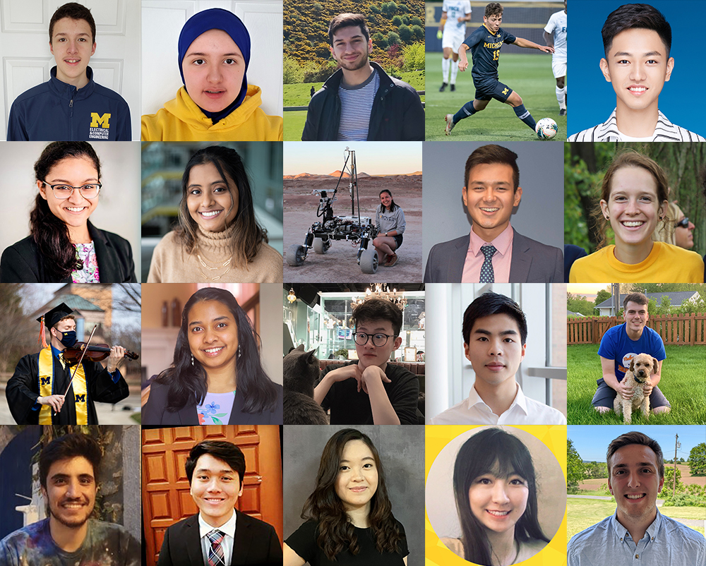 Mosaic of student headshots