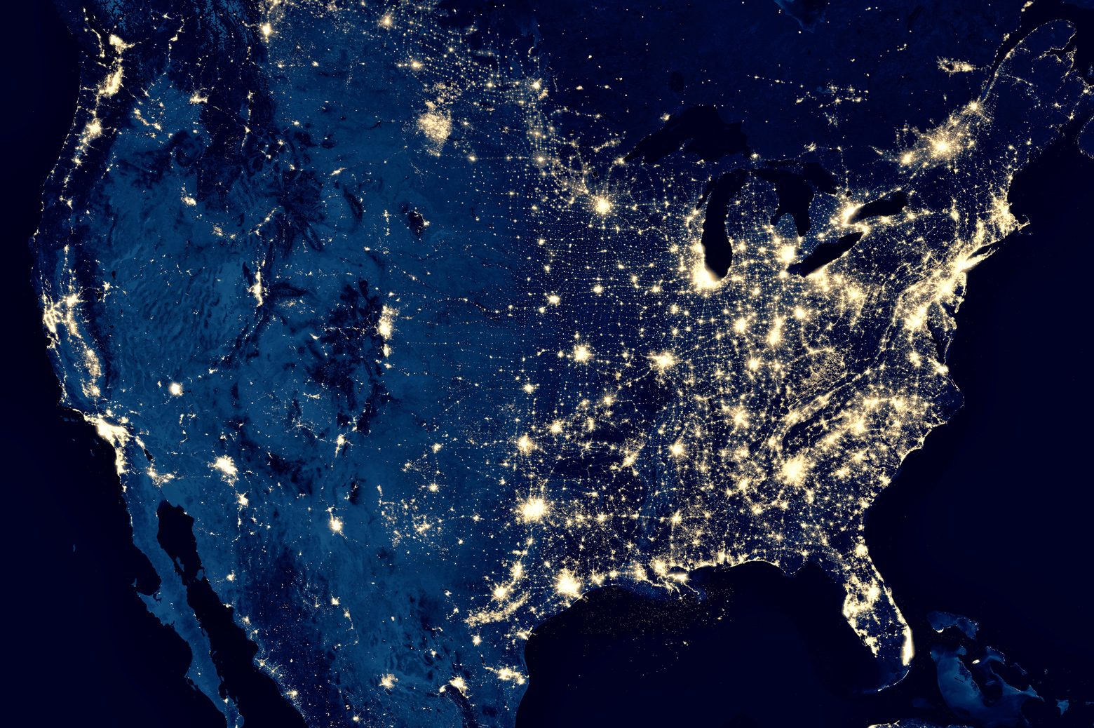 The US from space.