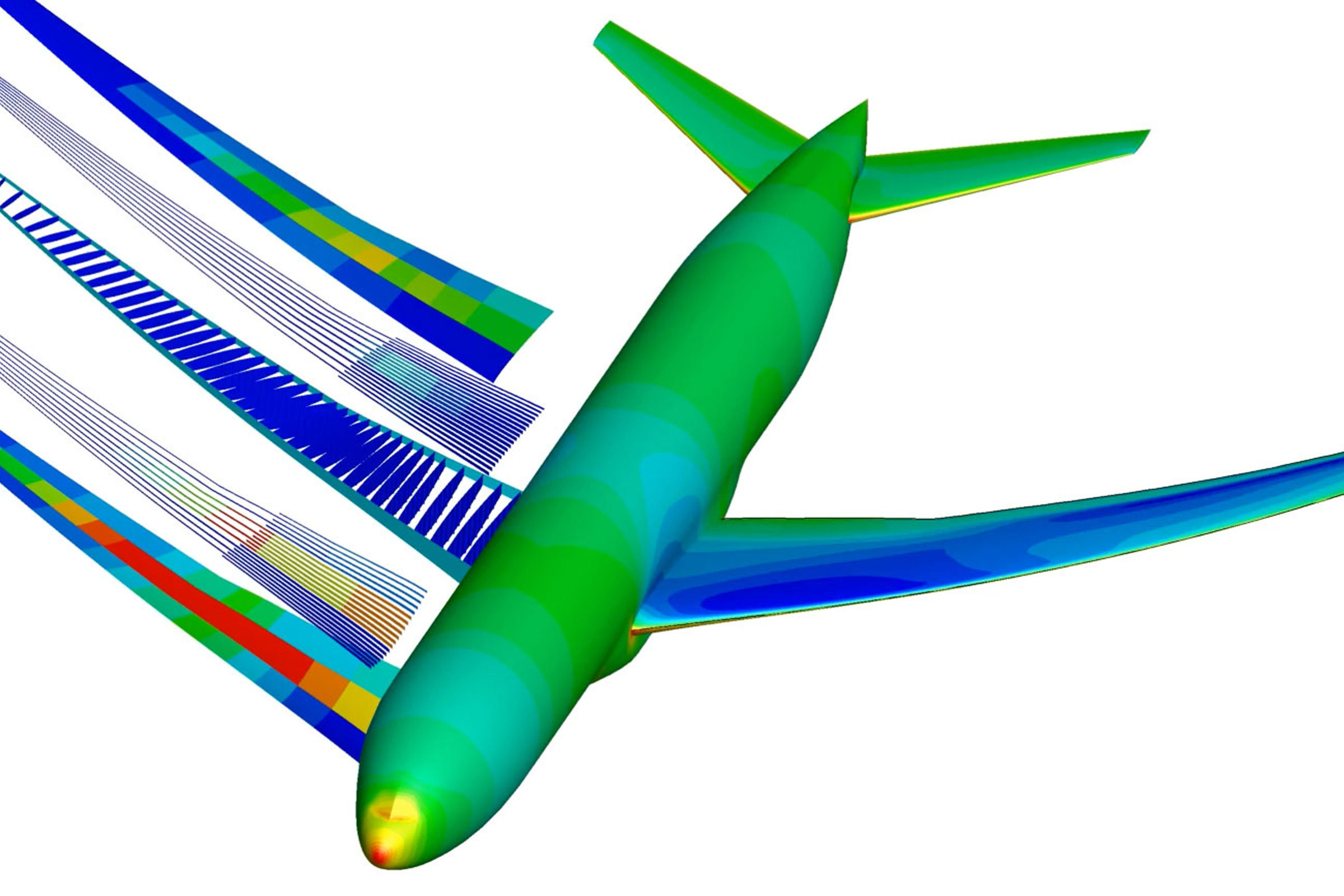 Simulation image of an optimized aircraft.