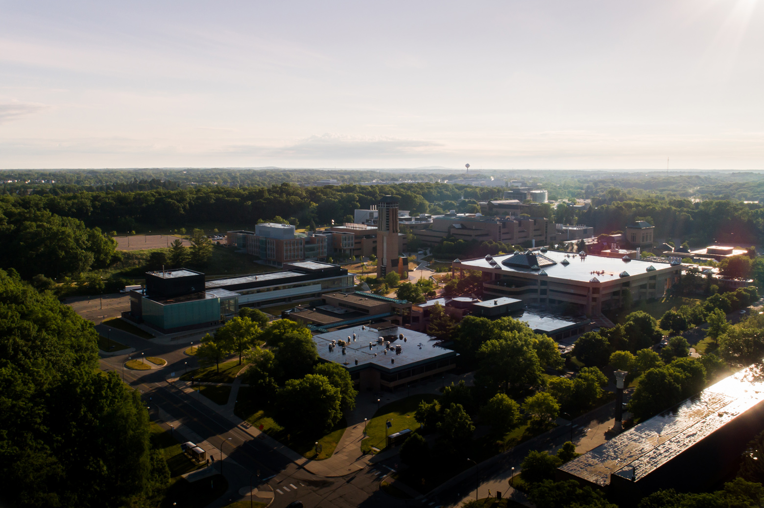 North campus photo taken by a drone
