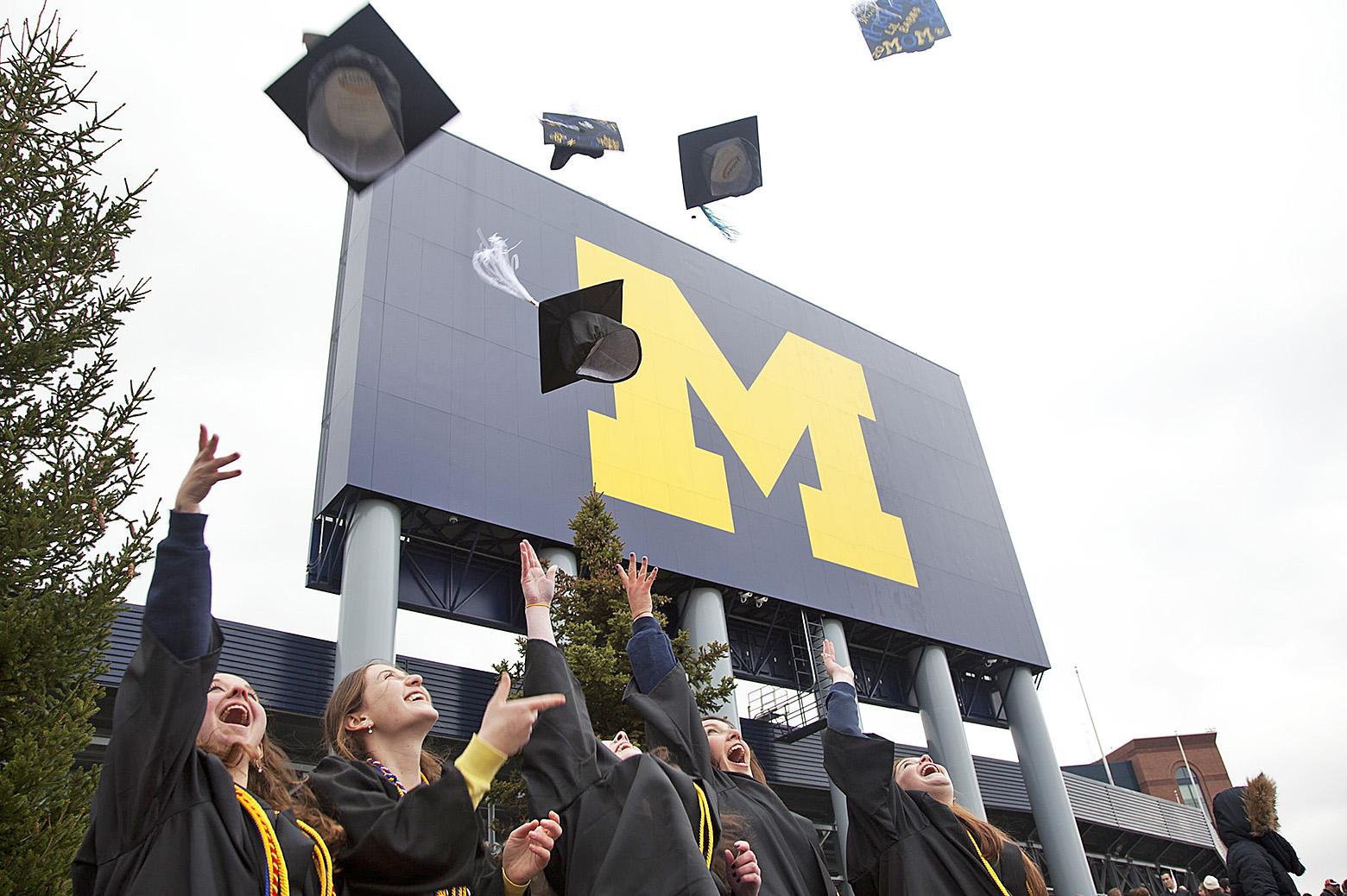 image of graduating students at Michigan Stadium