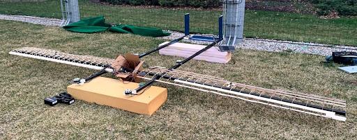 Partially-complete UAV prototype